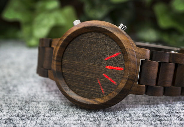 Tokyoflash Kisai Blade Wood Link LED Watch