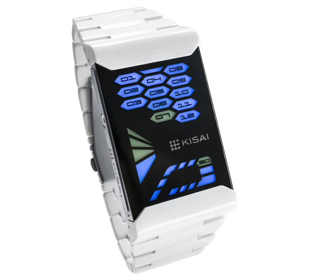 Tokyoflash Kisai Console Acetate LED Watch Creates Beautiful Contrast With Its Black Crystal Lens