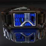 Tokyoflash Kisai Console Wood LED Watch Looks Like Sci-Fi Control Panel