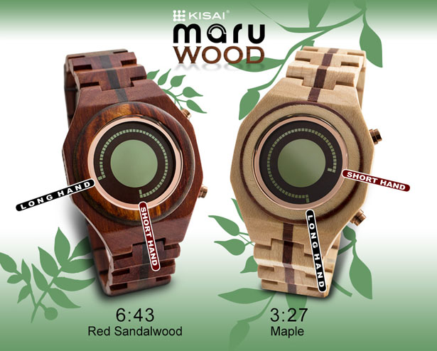 Tokyoflash Kisai Maru Wood LCD Watch by Samuel Jerichow
