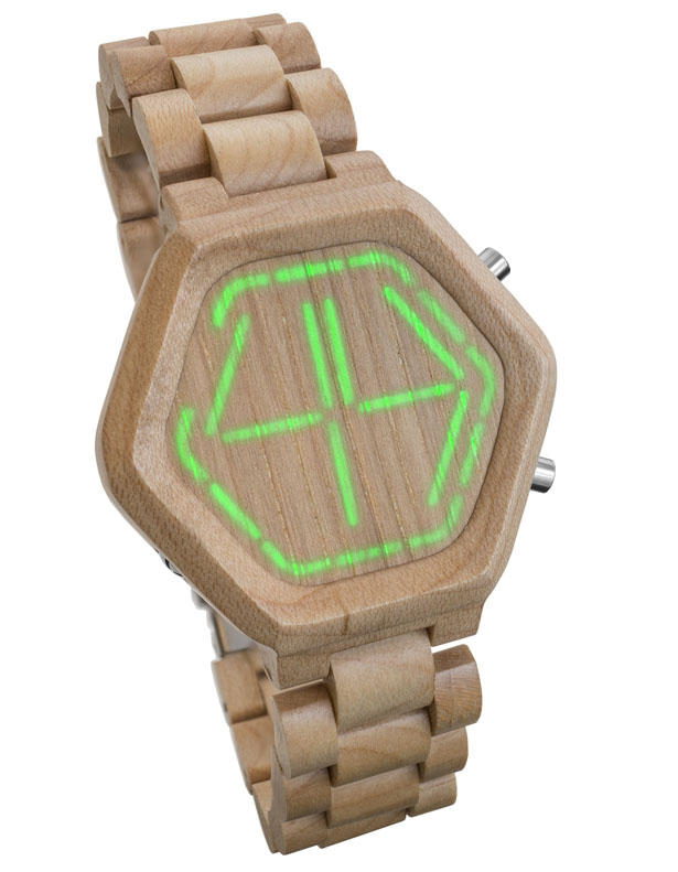 Tokyoflash Kisai Night Vision Wood LED Watch