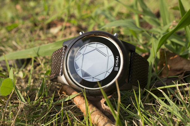 Tokyoflash Kisai Polygon Wood LCD Watch