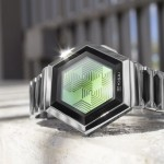 Kisai Quasar Pulsating Hexagonal Watch by Scheffer László