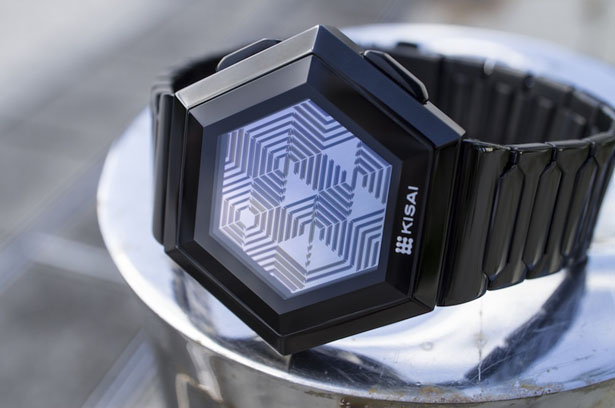 Kisai Quasar Pulsating Hexagonal Watch by Laszlo Scheffer
