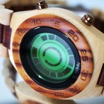 Tokyoflash Kisai Rogue SR2 Wood and Kisai Stencil Watch Features Wooden Case and Strap