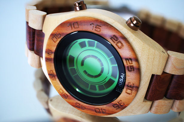 Tokyoflash Kisai Rogue SR2 Wood Watch