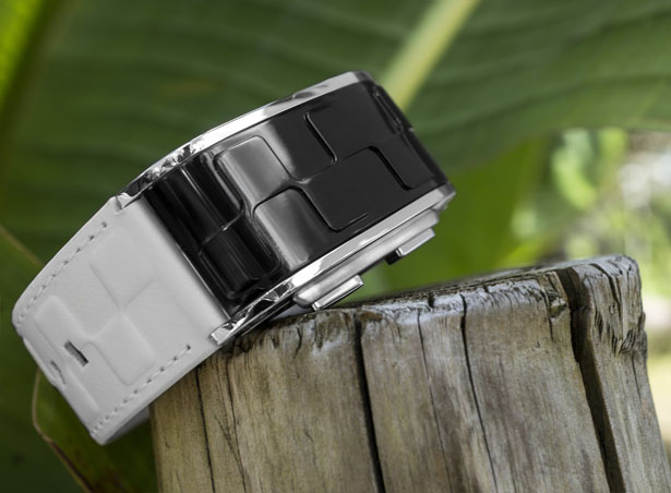 Tokyoflash Kisai Sequence LED Watch With A Pattern of Raised Cubes