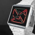 Tokyoflash Kisai X Acetate Limited Edition Watch With Smoked Mineral Crystal Lens