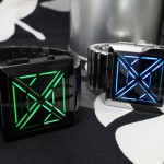Futuristic Tokyoflash Kisai X LED Watch with Subtle Pyramid Crystal Lens