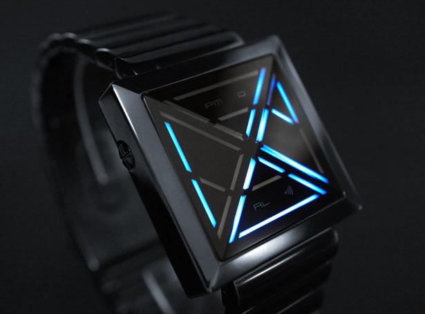 Futuristic Tokyoflash Kisai X LED Watch by Firdaus Rohman and Heather Sable