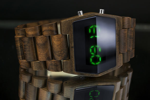 Tokyoflash Kisai XTal Wood Led Watch by Samuel Jerichow