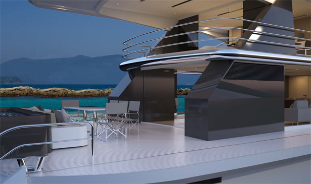 Top Deck 40 Meters Yacht by Luiz Debasto