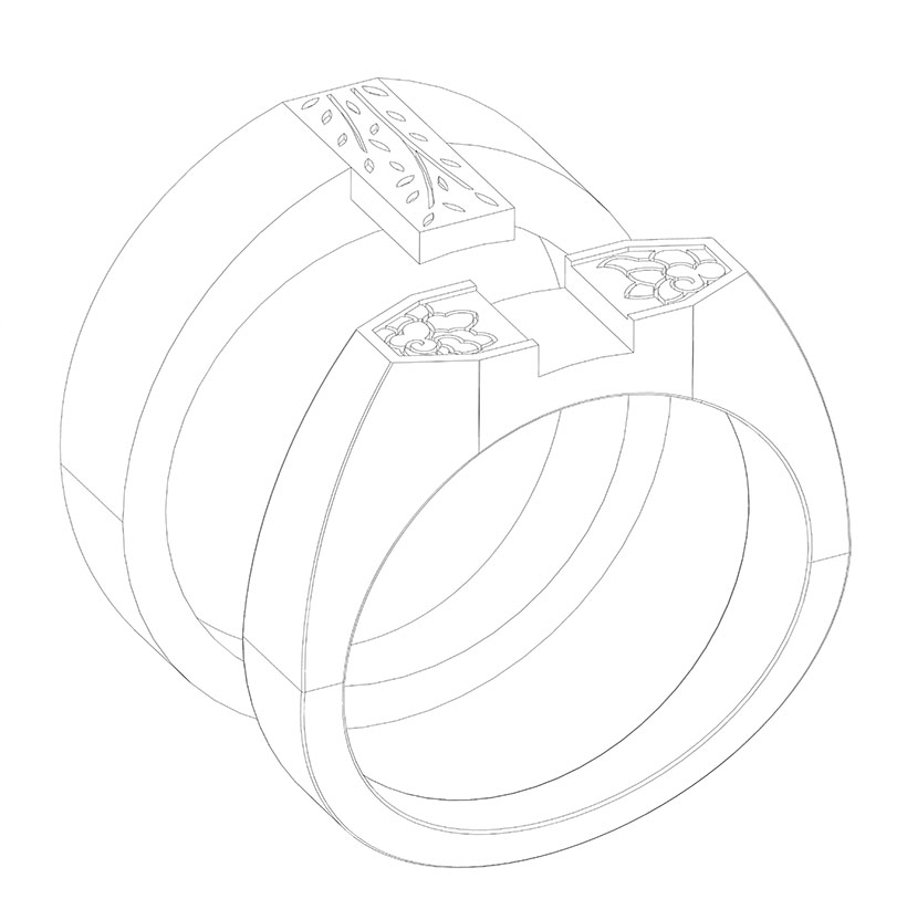 Totius Ring by Chris Udell of London Laine Design