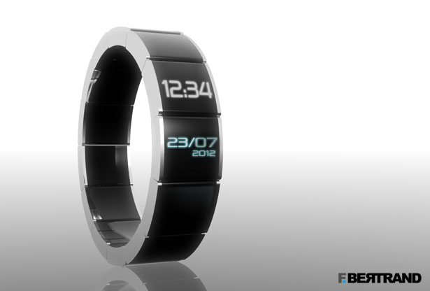 Touch Screen Watch concept by F. Bertrand