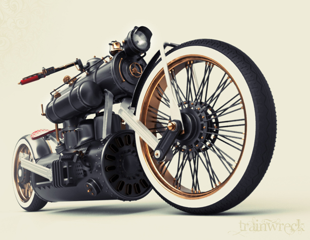 Train Wreck Bike by Colby Higgins