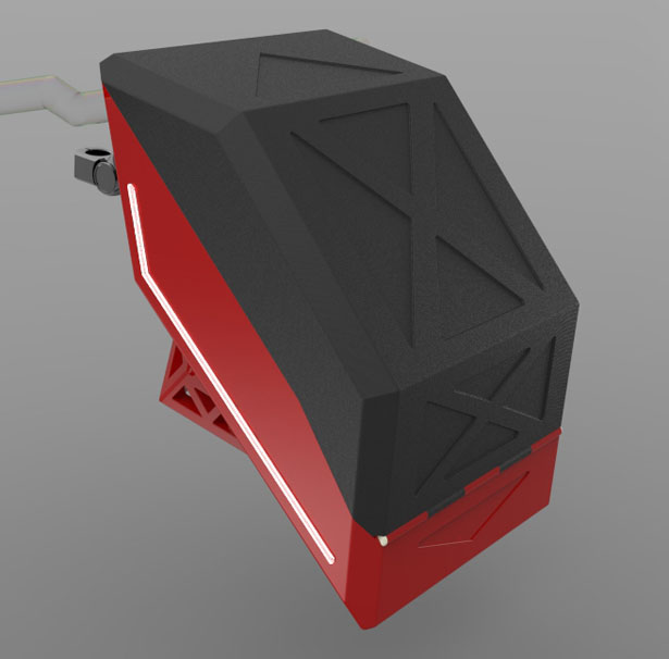 Tram Box : Bag Case for Bicycle with Thin LED Lights On Both Sides