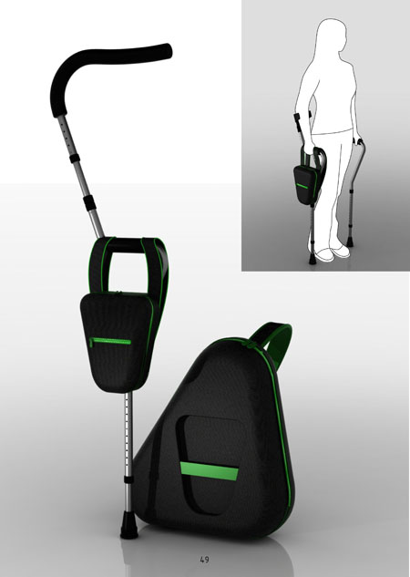 transformable crutches