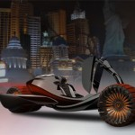 Futuristic Car Design with Transforming Multifunctional Wheels
