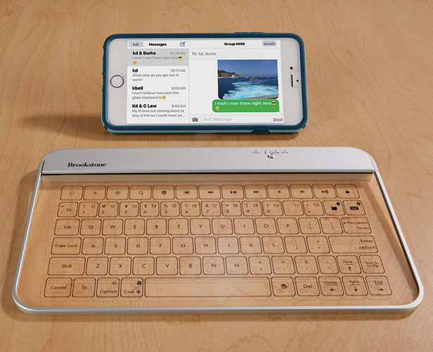 Transparent Wireless Glass Keyboard
