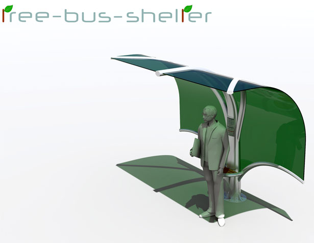 Tree Bus Shelter by Nicola D'Alessandro