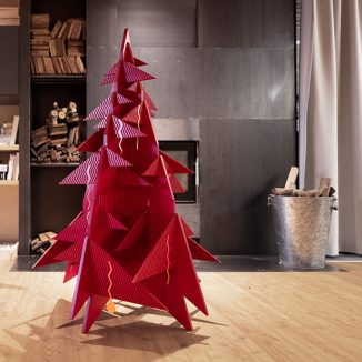 Modern and Timeless Treesure Christmas Tree Design Made of Selected Plywood