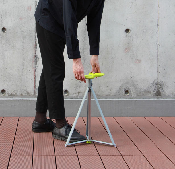 Tri Cane - Cane Transforms to Stool by Jordan Lau