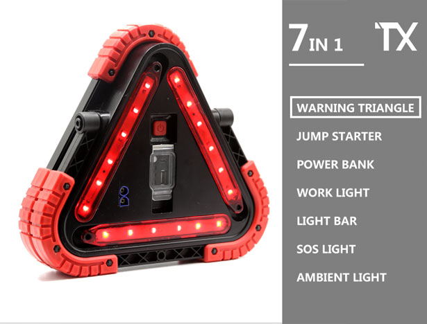 TRILIGHT:A Handy 7-in-1 Light as Driver's Partner