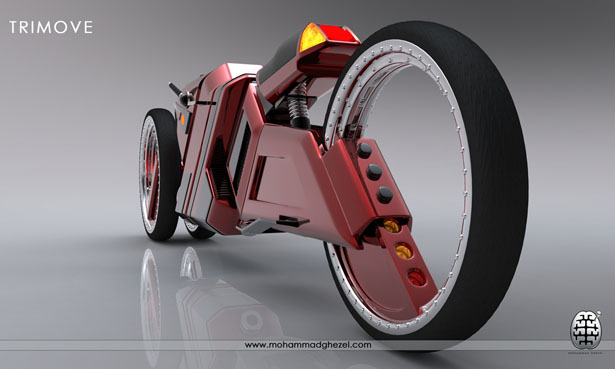 Futuristic Trimove Motorbike Concept by Mohammad Ghezel