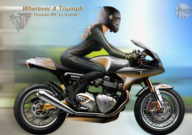 Triumph Thruxton Retrovation Concept Motorcycle by Lee Thompson