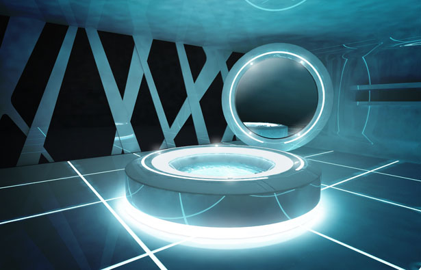 Dupont and disney presents tron designs corian based on for Sci fi decor