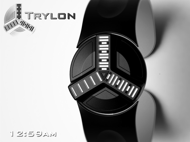 Trylon LED Watch by Peter Fletcher