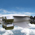 Futuristic TU523 Hybrid Electric VTOL Aircraft Concept for Goods Transportation