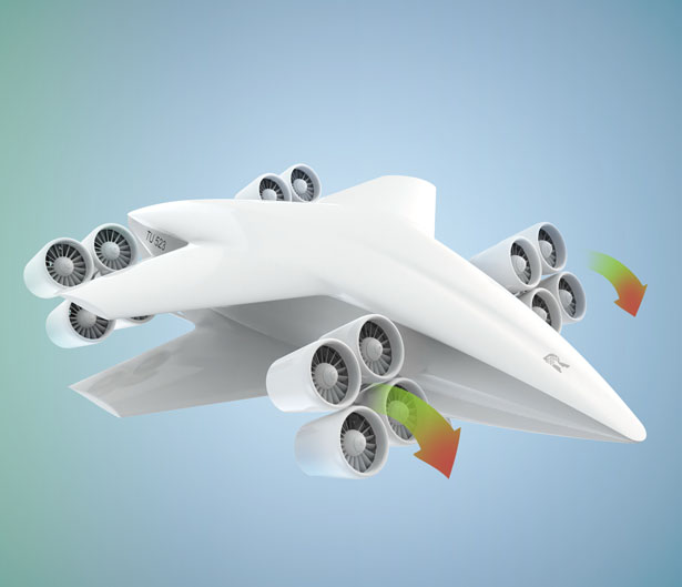 TU523 Hybrid Electric VTOL Aircraft by Thorsten U. Reinhardt