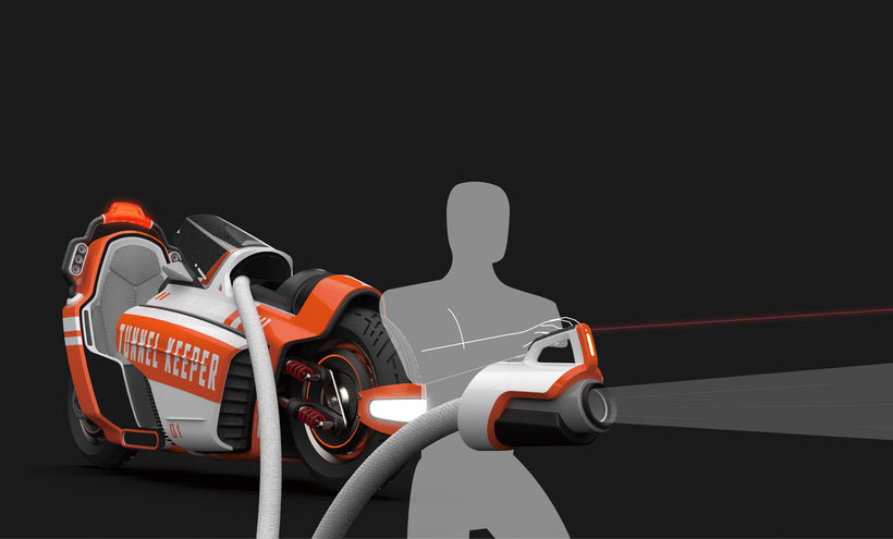 Tunnel Keeper - High-Mobility Fire Rescue Vehicle for Tunnel by Shu-Qing Ou, Wei-Chi Chen, Ying-Cih Shao, and Ching-Hsin Hsu