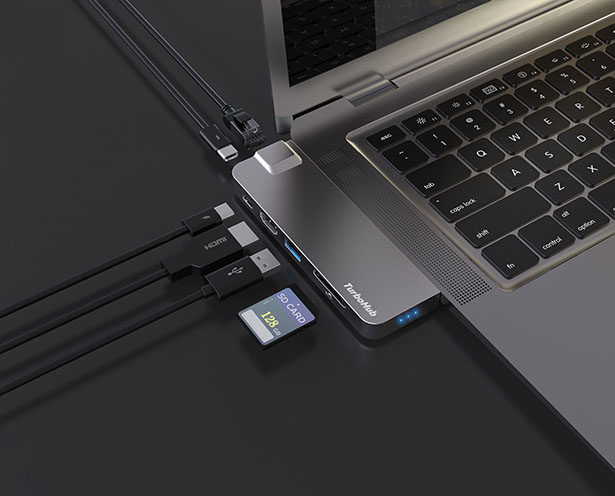 TurboHub Promises High-Speed External SSD Storage along With 6-in-1 USB-C Hub