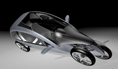 tva tilting vehicle 4-wheeler concept