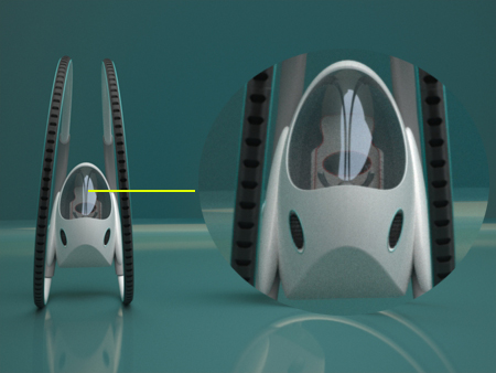 TW Transporter Single Seater Magnetic Field Powered Vehicle Concept
