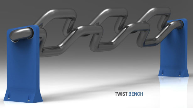 Twist Bench by Jang Woo-Seok