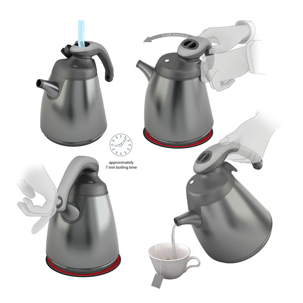 Twist Stovetop Kettle by Hakan Gursu