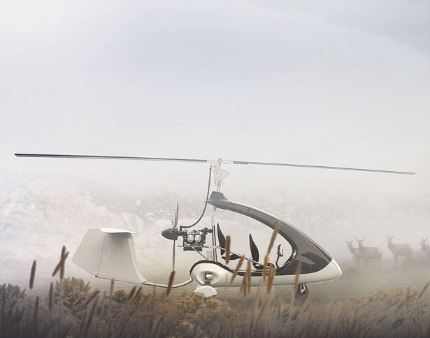 Twistair Two-Seater Tandem Gyrocopter by 2sympleks and Trendak Aviation