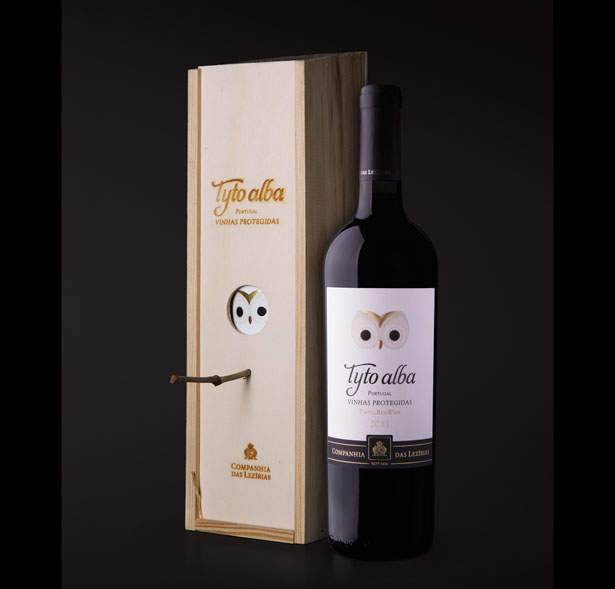 Tyto Alba Wine Features Creative Packaging Design by Rita Rivotti for Companhia das Lezírias, S.A.