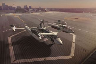 Futuristic Uber Flying Car Concept for Aerial Taxi Service in 2023