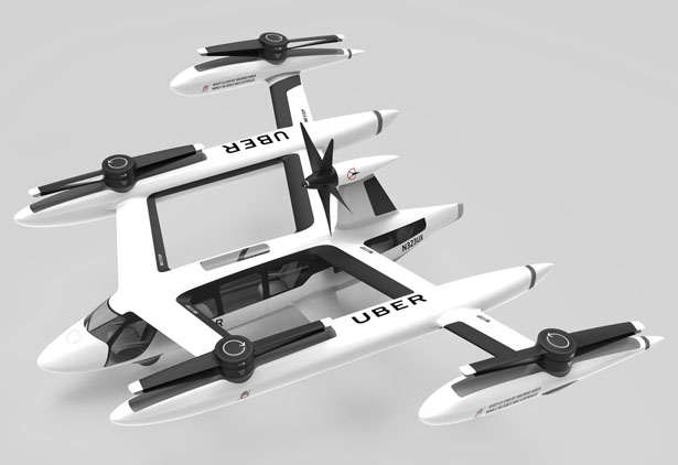 Futuristic Uber Flying Car Concept