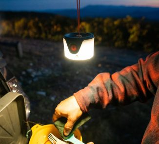 UCO Gear Sprout Mini Lantern Features Magnetic Lanyard to Make It Easy to Hang Onto a Tent