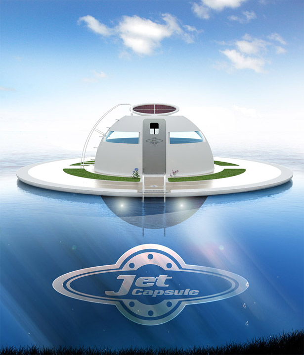 UFO Floating House by Jet Capsule