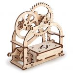 Cool UGears 3D Moving Business Card Holder Kit Brings Mechanical Magic to Any Desk