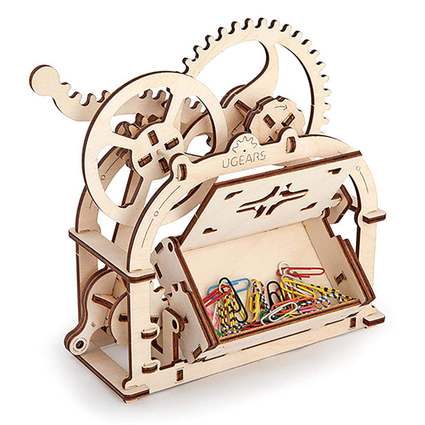 Cool UGears 3D Moving Business Card Holder Kit