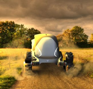 Futuristic Ukko Concept Tractor Is An All Electric Tractor with AI Technology