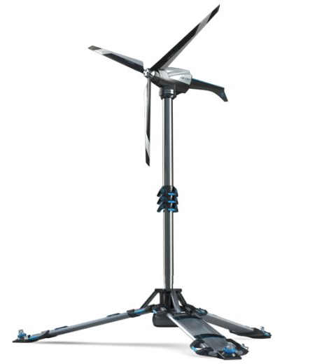 ultra portable eolic foldable wind powered generator