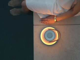 Elegant Uma Sound LED Table Lamp with Bluetooth Speaker Invokes The Warmth of a Campfire